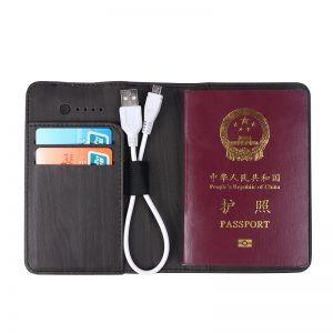 Mini Passport Holder with Power Bank For Mobile Phone