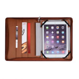 A4 Zipper Digital Business Portfolio with Power bank and charge Cable
