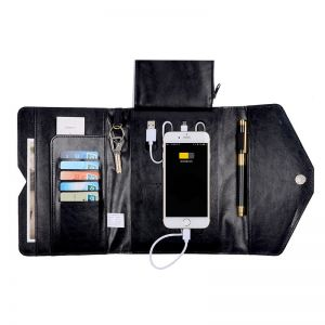 Business PU Multi-function Charge Wallet