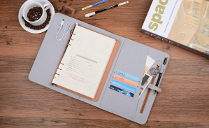 Premium Business Notebook with USB Disk and Power Bank